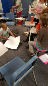 Hard at work designing and creating their speakers