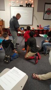 Testing their speakers with the decibel meter