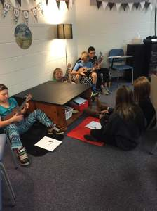 A few days into our ukulele playing and the kids are practicing and learning on their own.